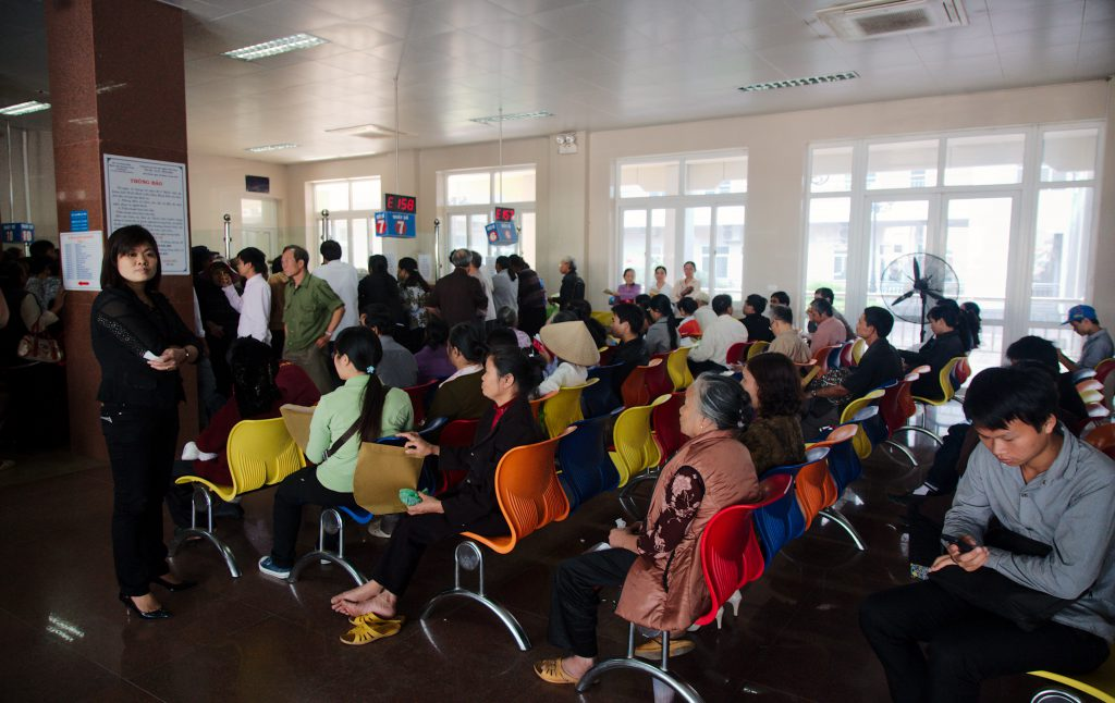 Crowds at a provincial hospital in Vietnam. Photo by Ryan Li.
