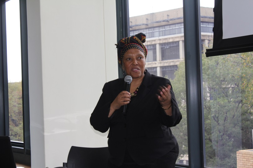 Director General of Health, Precious Matsoso speaks at the first iDSI Africa meeting